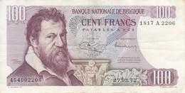 BILLETE DE BELGICA DE 100 FRANCS DEL AÑO 27-03-1972  (BANK NOTE) - [ 2] 1831-... : Belgian Kingdom