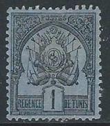 Tunisia  1888   Sc#1  1c  MH*   2016 Scott Value $5.50 - Tunisie (1888-1955)