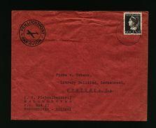 A4984) Niederlande Luftpostbrief Von Schoonhoven 1947 Nach Pretoria / Südafrika - 1891-1948 (Wilhelmine)