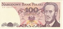 BILLETE DE POLONIA DE 100 ZLOTYCH DEL AÑO 1986 EN CALIDAD EBC (XF) (BANKNOTE) - Polonia