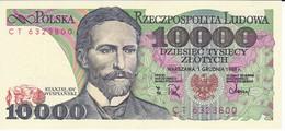 BILLETE DE POLONIA DE 10000 ZLOTYCH DEL AÑO 1988 EN CALIDAD EBC (XF) (BANKNOTE) - Polonia