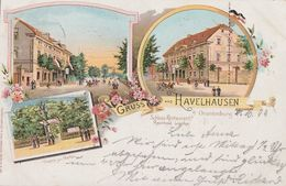 AK Gruss Aus Havelhausen B. Oranienburg Gelaufen 9.10.1899 - Oranienburg