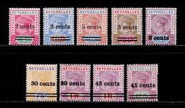 Seychelles 1901-1902 MH 2 Sets SG 37/45 Cat £90 - Seychelles (...-1976)