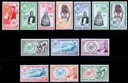 Sierra Leone 1961 MNH Set SG 223/235 Cat £15 - Seychellen (...-1976)