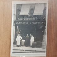 Dieppe.graineterie Dieppoise.rare Carte Photo - Dieppe