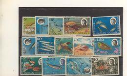 OCEAN INDIEN BRITANIQUE - N° 16/30 ** LUXES (MNH) Manque N° 20 Le 25c - POISSONS FISHS - Belle Série - Territoire Britannique De L'Océan Indien
