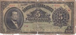 BILLETE DE MEXICO DE 5 PESOS DEL 19 DE SEPTIEMBRE DEL AÑO 1907  (BANKNOTE) MUY RARO - México