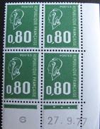 LOT 1123 - MARIANNE DE BEQUET - BLOC NEUF** COIN DATE N°1891 - 1971-76 Marianna Di Béquet