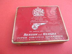 Boite Métallique Ancienne/Twenty Cigarettes/Benson & Hedges/ PAA/Pan American World Airways/ Vers 1940-1950   BFPP171 - Boîtes