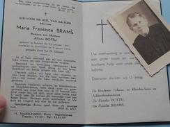 DP Maria BRAMS ( Alfons BOTTU ) Schoten 26 Feb 1861 - Antwerpen 9 Jan 1956 ( Zie Foto's) + Foto ( 1 X Pas + 1 X PK ) ! - Décès
