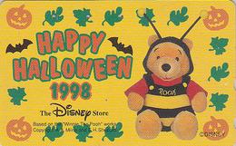 Télécarte Japon / 110-203505 - DISNEY STORE - HALLOWEEN 1998 Ours WINNIE POOH & CHAUVE SOURIS BAT - Japan Phonecard - Disney