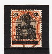 HIT242 DEUTSCHLAND SAARGEBIET 1920  MICHL  10  Used / Gestempelz SIEHE ABBILDUNG - Gebraucht