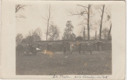 K5- 60)  CONCHY LES POTS (OISE) CARTE PHOTO DU 13 OCTOBRE 1915 -LA POSTE - MILITAIRES  -  (2 SCANS) - Other Municipalities