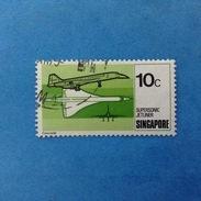 1978 SINGAPORE FRANCOBOLLO USATO STAMP USED - AEREO CONCORDE SUPERSONIC JETLINER 10 - Singapore (1959-...)