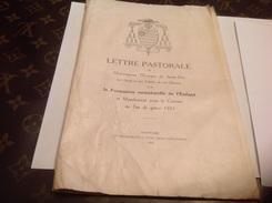 Lettre Pastorale  Monseigneur L évêques De  1933 Saint Die - Books, Magazines, Comics