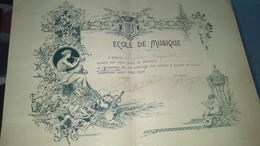 Diplôme -  VILLE DU HAVRE - ECOLE DE MUSIQUE  De Leclerc Raymond Au Havre - Diplomas Y Calificaciones Escolares