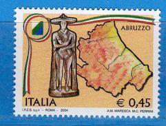 Italia ** - Anno 2004 - Regioni D'Italia - ABRUZZO . Unif. 2816 .     Vedi Descrizione. - 6. 1946-.. Repubblica
