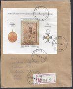 """POLOGNE - 1993 - Affr. Bloc-feuillet N° 127 """"Vierge De Czestochowska"""" Sur Enveloppe Recommandée De Wroclaw Pour Berlin - - Lettres & Documents"""