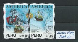 PERU MICHEL SATZ 1488,1489 Gestempelt Siehe Scan - Peru