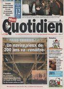 MON QUOTIDIEN 12 02 2003 - ROCHEFORT 17 FREGATE L' HERMIONE - TROUBLES MENTAUX ENFANTS - JEU TOODOO - INDE VACCIN POLIO - Journaux - Quotidiens