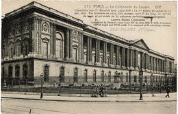 PP13/3 - CPA DES GRANDS MAGASINS DU LOUVRE CIRCULEE 26/1/1924 - PARIS LA COLONNADE DU LOUVRE FLAMME J.O.PARIS 1924 - Publicité