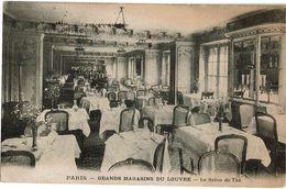 PP13/3 - CPA DES GRANDS MAGASINS DU LOUVRE SALON DE THE CIRCULEE 28/12/1923 -  FLAMME J.O.PARIS 1924 - Publicité