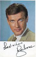 Roger Moore Signature Imprimée Sur Photo - Autografi