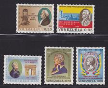 VENEZUELA AERIENS N°  942 à 946 ** MNH Neufs Sans Charnière, TB  (D1693) - Venezuela