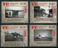 SAMOA 2014 - Cent De La 1ere Guerre Mondiale, Troupes Néo Zélandaises à Samoa - 4 Val Neufs // Mnh - Samoa