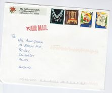 1999 Air Mail USA COVER 3x Different 33c CHRISTMAS DEER , 1x BIRD Stamps - United States