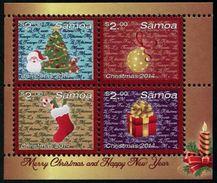 SAMOA 2014 - Noël 2014, Décorations, Sapin De Noël - BF 4 Val Neufs // Mnh - Samoa
