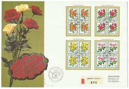 Suisse // Schweiz // Switzerland //  Pro-Juventute  // Lettre Recommandée Pour Rickenbach Série 1977 Bloc De 4 1er Jour - Lettres & Documents