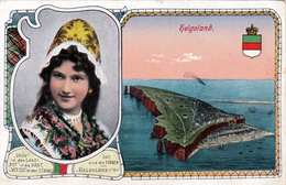 Litho HELGOLAND 1916 Sonderstempel Kaiserliche Marine S.M.Torpedoboot T?8? - Karte Gel.v.Helgoland Nach Hörten ... - Helgoland