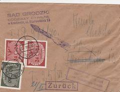 General Gouvernement Lettre De Service Krakau 1940 - 1939-44: 2. WK