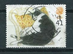 1995 England 41p. Cats,katten Used/gebruikt/oblitere - 1952-.... (Elizabeth II)