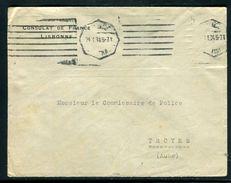 Portugal - Enveloppe Du Consulat De France De Lisbonne En 1934 Pour Troyes ( Timbre Enlevé) - Ref N 36 - Lettres & Documents