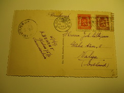 BELGIUM 1937 ANTWERPEN  TO ESTONIA  LUCHTPOST AIR MAIL   , OLD POSTCARD , RA - Unclassified