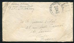 Etats Unis - Enveloppe En Franchise Militaire Pour La France En 1945 - Ref N 38 - Poststempel
