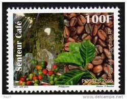 Polynésie 2015 - Plantes A Café, Timbre Senteur Café - 1 Val Neuf // Mnh - French Polynesia