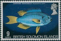 Solomon Islands 1972 SG225 9c Blue Demoiselle MNH - Solomon Islands (1978-...)