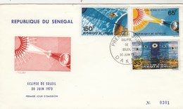 Sénégal FDC 1973  Yvert  Série 389 à 391 Eclipse De Soleil - Senegal (1960-...)