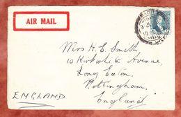 Luftpost, EF Koenig Faisal, ? Ueber Basrah Nach Nottingham 1931 (42926) - Iraq