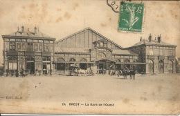 29 BREST  La Gare De L'Ouest  1910 - Brest