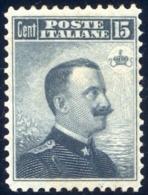 1906 MICHETTI 15 CENT N. 80 DENTELLATO 12 NUOVO* CENTRATO  - MLH EXTRA FINE - Nuovi