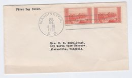 1934 USA FDC 2x GRAND CANYON Stamps, Cover - First Day Covers (FDCs)