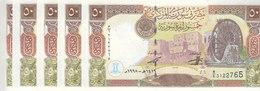 SYRIA 50 LIRA 1998 P-107 LOT X5 UNC NOTES  */* - Syria