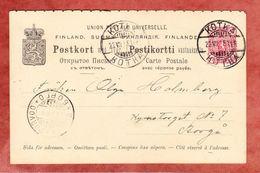 P 28 Staatswappen Frageteil, Kotka Nach Borgo? 1899 (42930) - Entiers Postaux