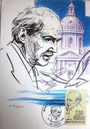 Carte Postale Maximum - Maurice Genevoix - Decize - 1990 - YT 2671 - Maximum Cards
