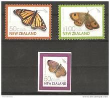 New Zealand (2010)  - Set - /  Butterflies - Papillons - Farfalle - Borboletas - Mariposas