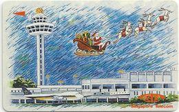 Singapore - Christmas - Changi Airport - 18SIGA - 1992, 520.000ex, Used - Singapur